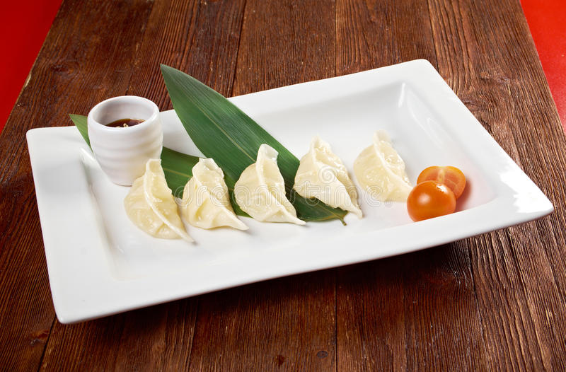 Chinese dumplings Jiaozi stock image