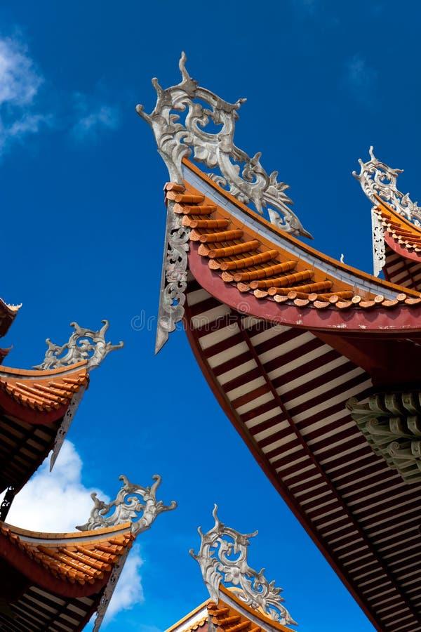 Chinese eaves van tempel stock afbeelding