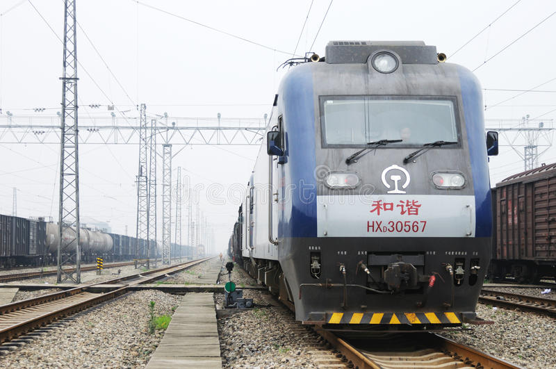 Chinese Electric Train Editorial Photography