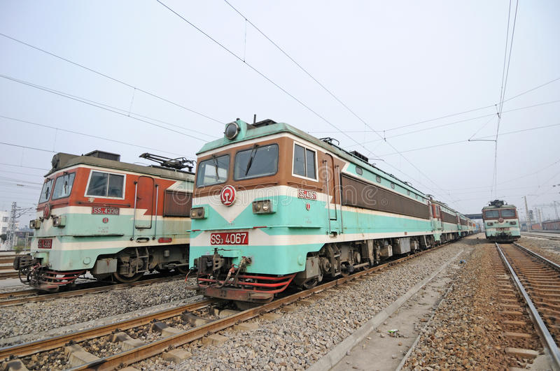 Chinese electric train stock photos