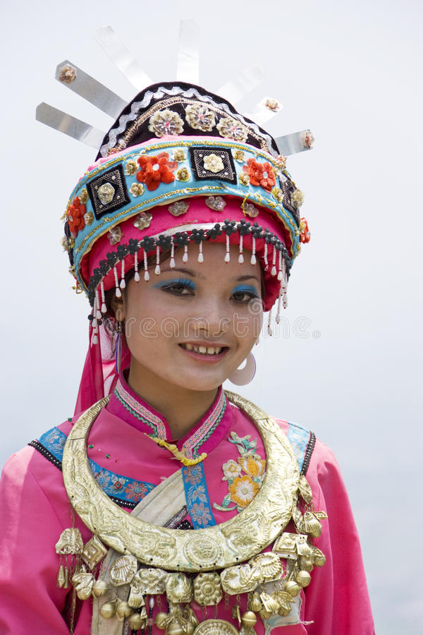 Download Chinese Ethnic Girl In Traditional Dress Stock Photo - Image: 10494684
