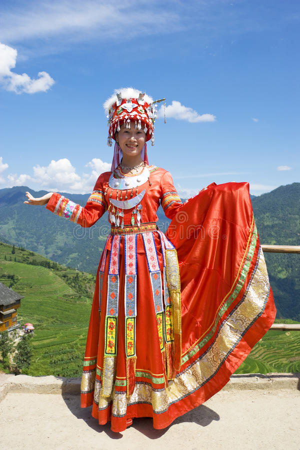 Download Chinese Ethnic Girl In Traditional Dress Editorial Stock Image - Image: 10548419