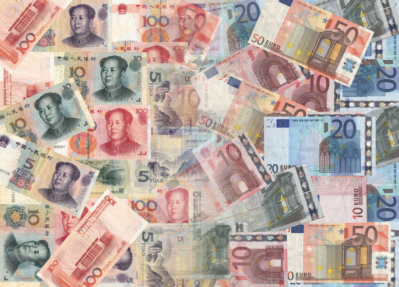 Download Chinese and euros currency stock illustration. Illustration of illustration - 6240103