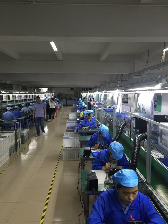 Chinese fabriek royalty-vrije stock fotografie