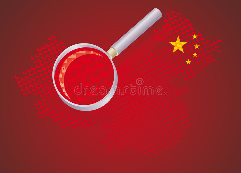 Chinese factories vector illustration