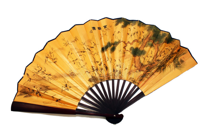 Download Chinese fan stock photo. Image of brown, female, isolated - 14778636
