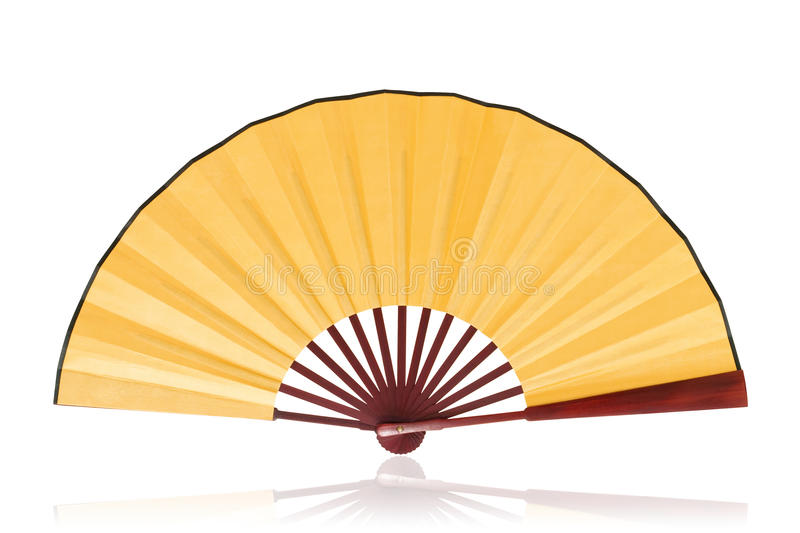 Chinese fan (clipping path)