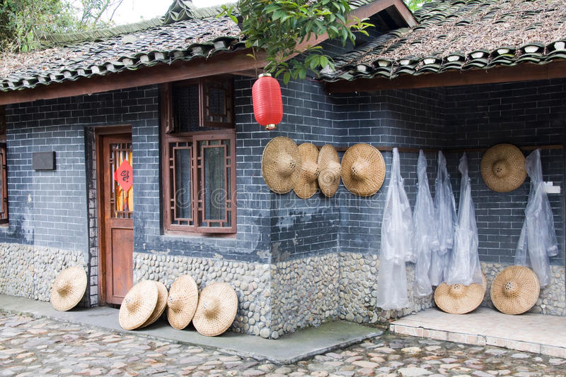 Chinese farmhouse stock photo