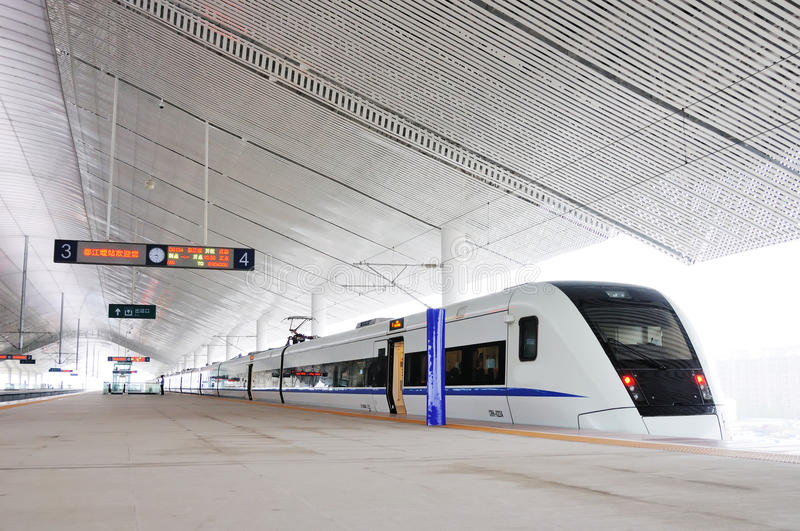Chinese fast train stock photos