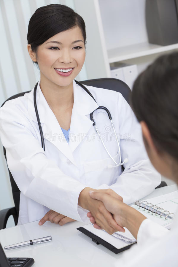 Download Chinese Female Woman Hospital Doctor Shaking Hands Stock Image - Image: 25745617