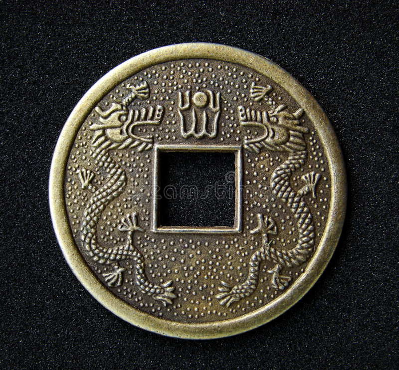 Chinese feng shui coin stock photography