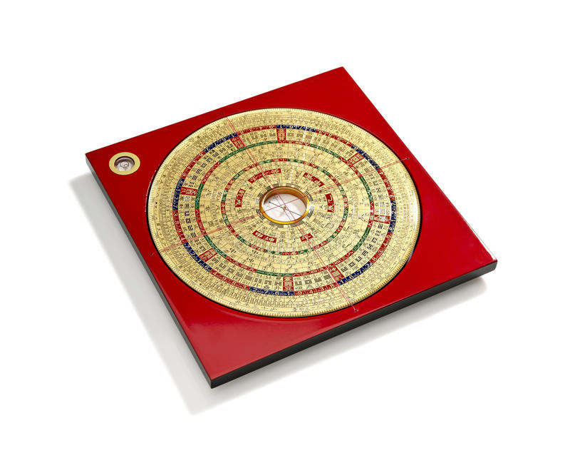Chinese Feng Shui compass vector illustration