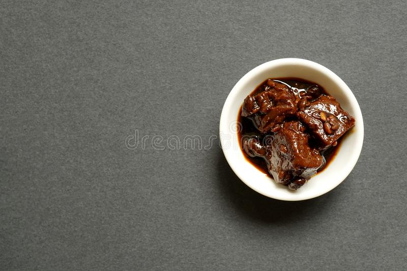 Chinese Fermented Tofu In Small Bowl royalty free stock image