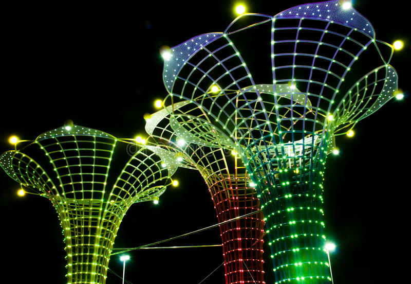 Chinese festival of lights in Guangzhou stock photography