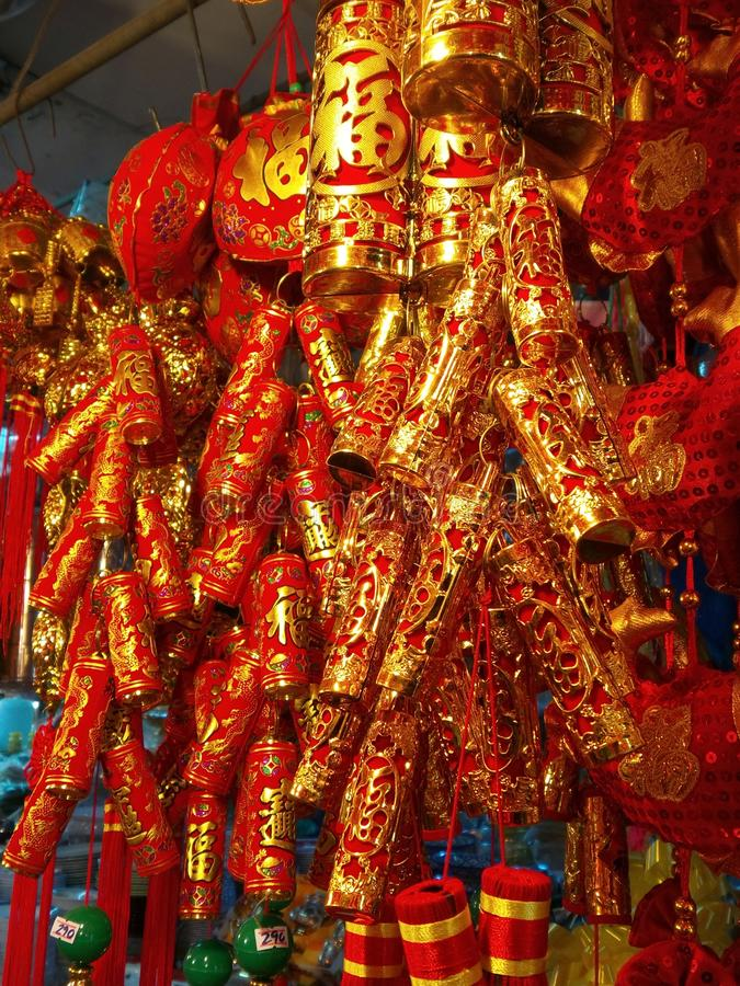 Chinese firecrackers stock photo