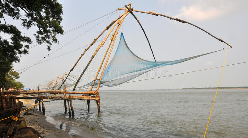 Download Chinese fishing nets stock image. Image of indian, fishing - 14633271
