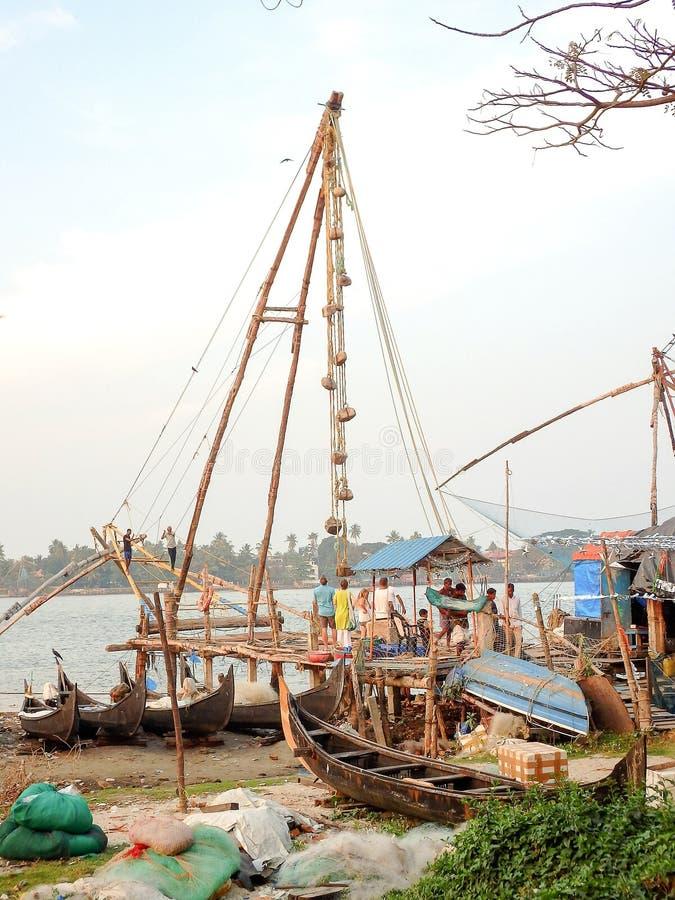 Chinese Fishing Nets royalty free stock photo