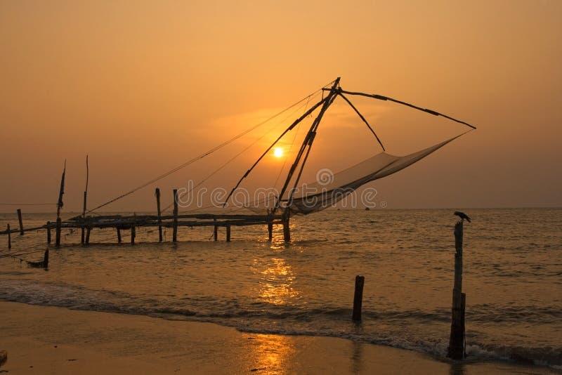 Download Chinese Fishing Nets. Fort Cochin, Kerala, India Stock Photos - Image: 12353093