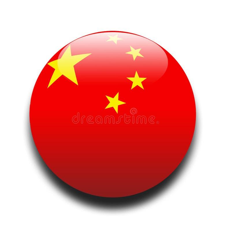 Chinese flag stock illustration