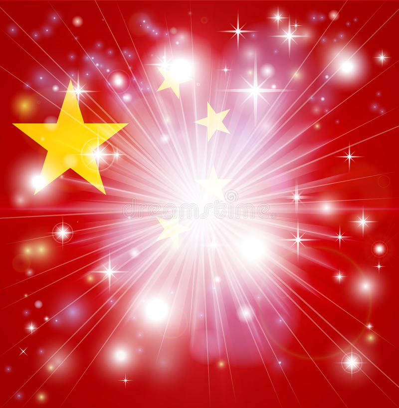 Download Chinese flag background stock vector. Illustration of lights - 28092317