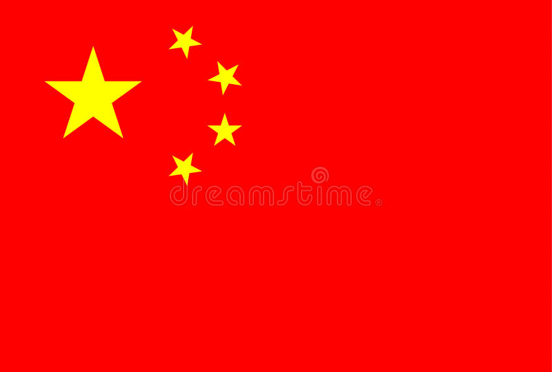Chinese flag stock illustration