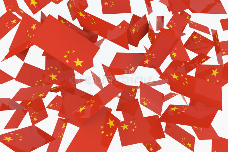 Chinese Flags Royalty Free Stock Photography