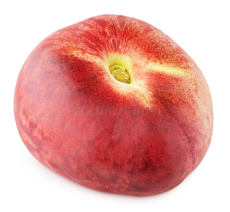 Chinese flat donut peach isolated on white. Background with clipping path. Full depth of field stock photo