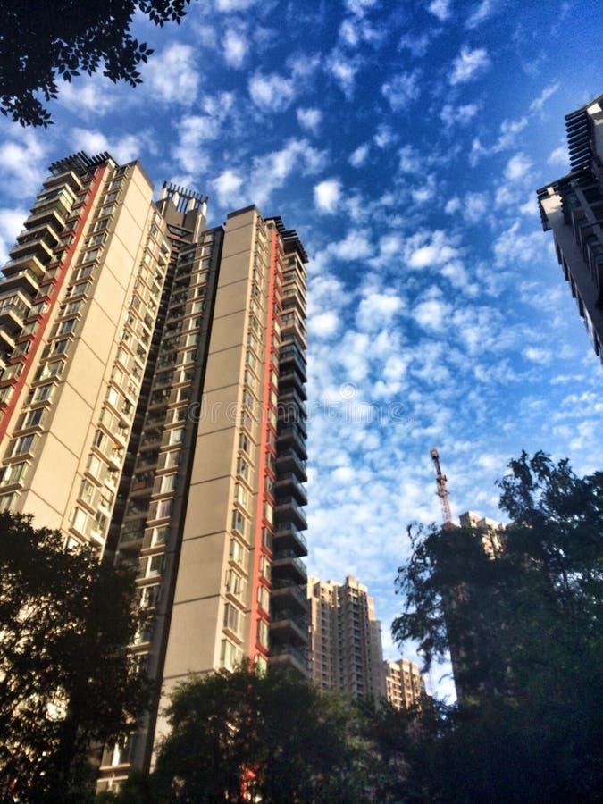 Chinese Flatgebouwen royalty-vrije stock afbeeldingen