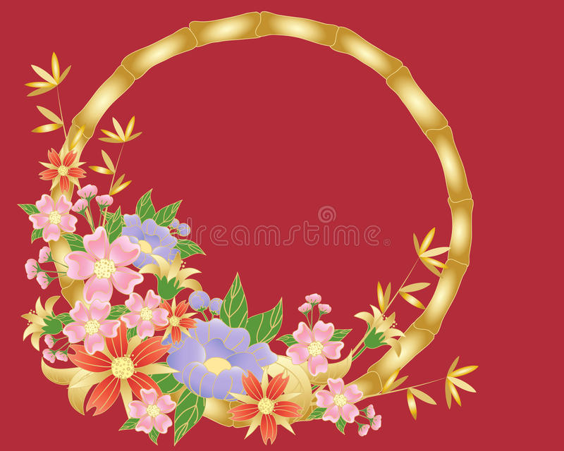 Chinese flower background vector illustration