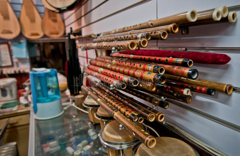Chinese Flutes Stock Photography