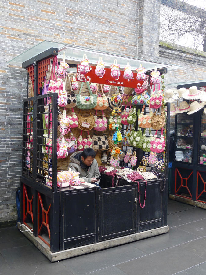 The Chinese folk art: crochet hook royalty free stock photos