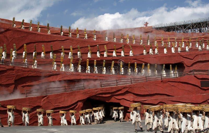 Chinese folk dance stock image