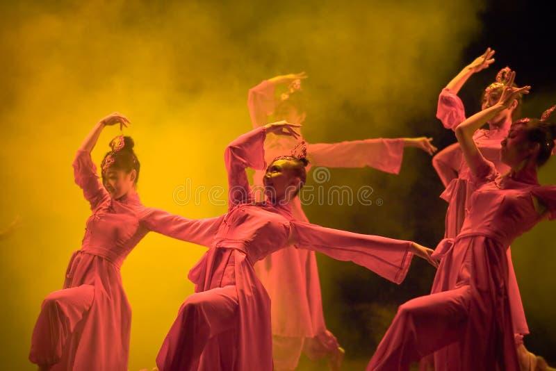 Chinese folk dance royalty free stock photos