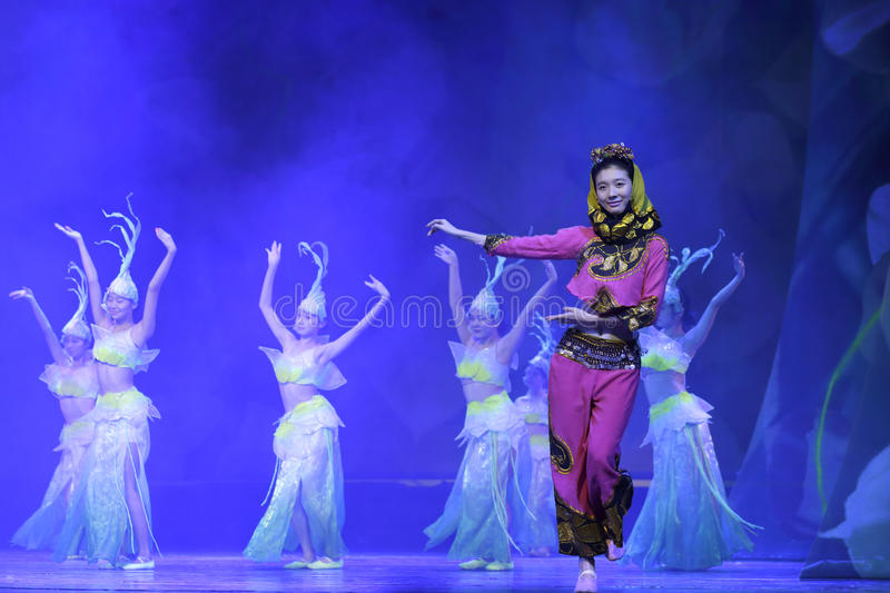 Chinese folk dance stock photography