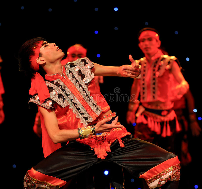 Chinese folk dance- Mongolia man. This is a chinese folk dance which will be performed during harvest season。The Chinese people have many kinds of folk stock photos