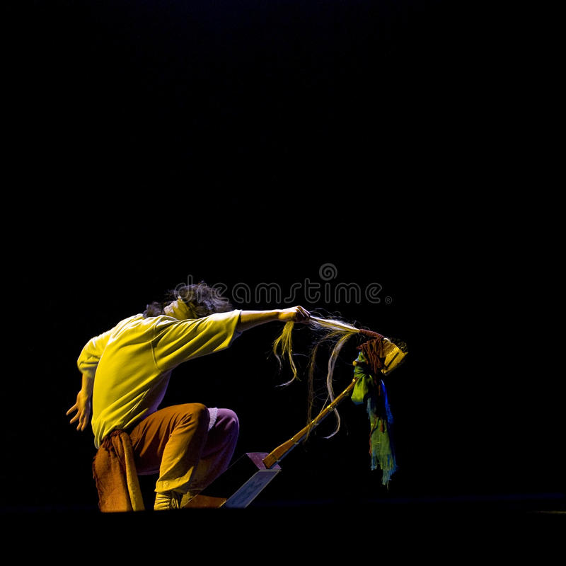 Chinese folk solo dance stock photos