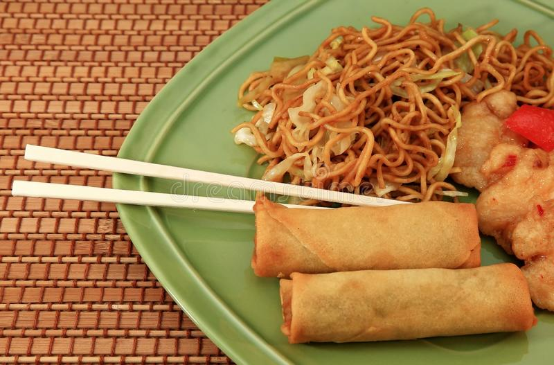 Chinese food. A dish full of chinese food stock photography