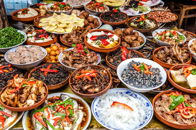 Chinese food. Ancient Chinese food for tourists royalty free stock image