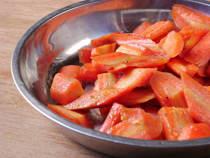 Chinese food braised carrot slices royalty free stock image