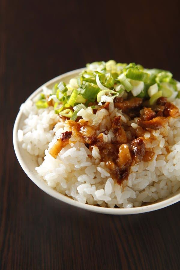 Chinese food, braised pork rice royalty free stock photos