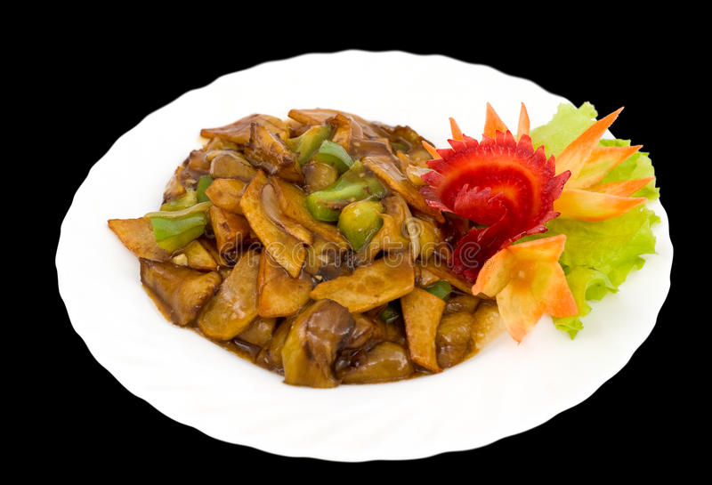 Chinese food. Cabbage salad, clipping path. royalty free stock image