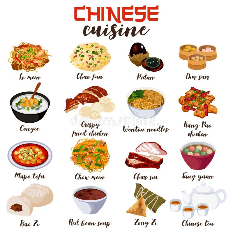 Free Chinese Food Cuisine Illustration Royalty Free Stock Photo - 109217715