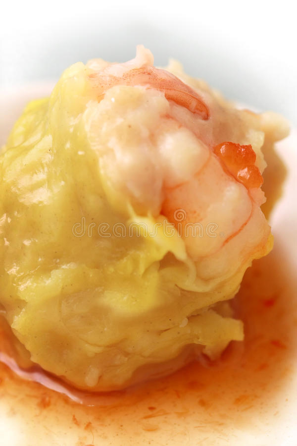 Chinese food dim sum with sauce stock photo