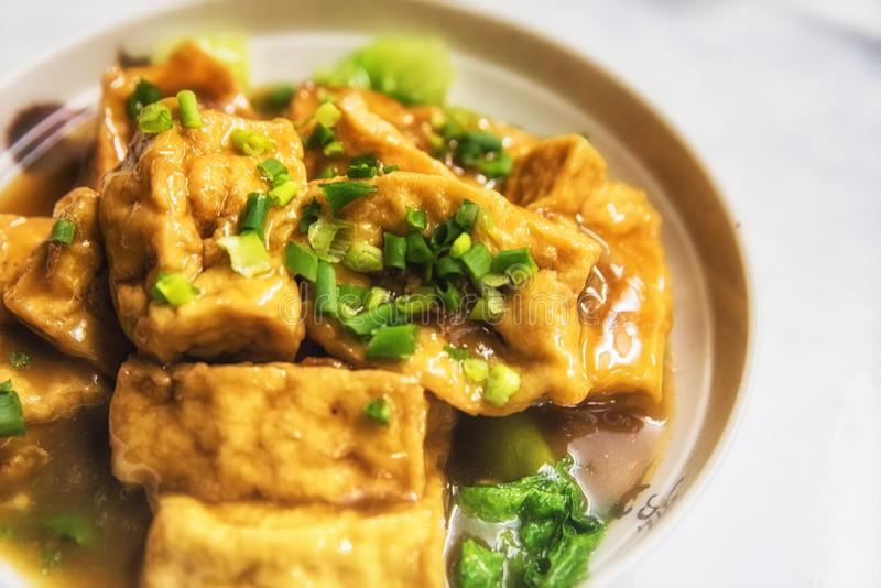 Chinese Food Fried Tofu stock image