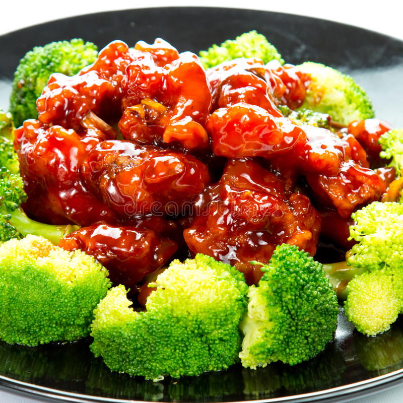 Chinese food general tso's chicken (General Chang's Chicken) royalty free stock image