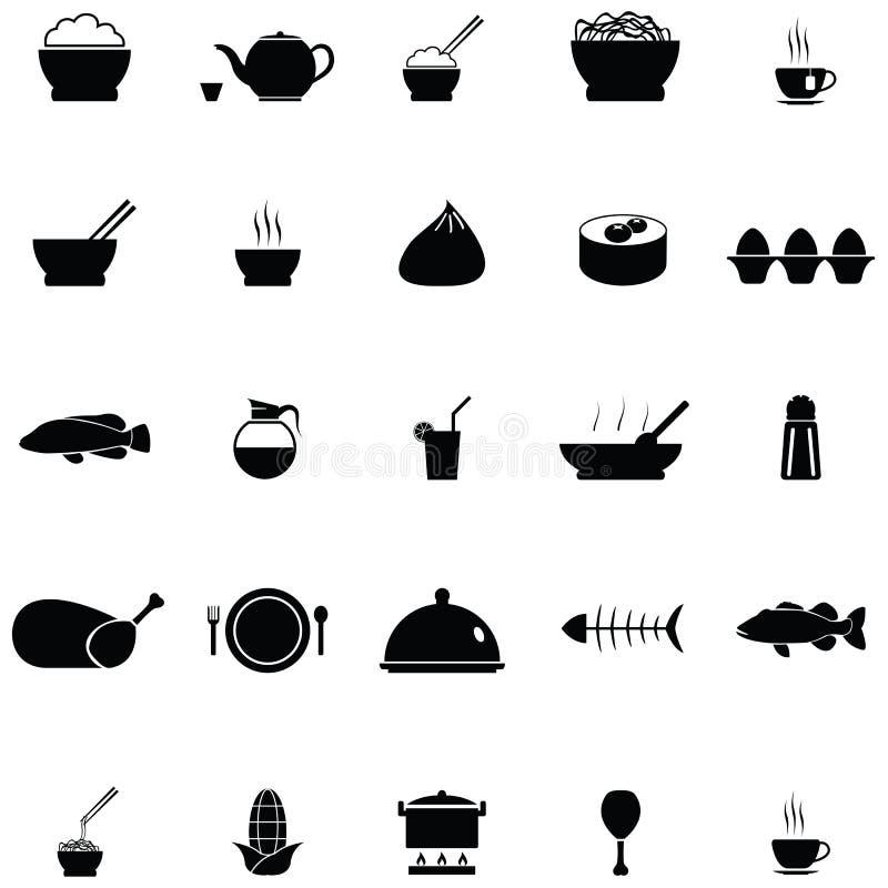 Chinese Food Icon Set Stock Vector Illustration Of Illustration