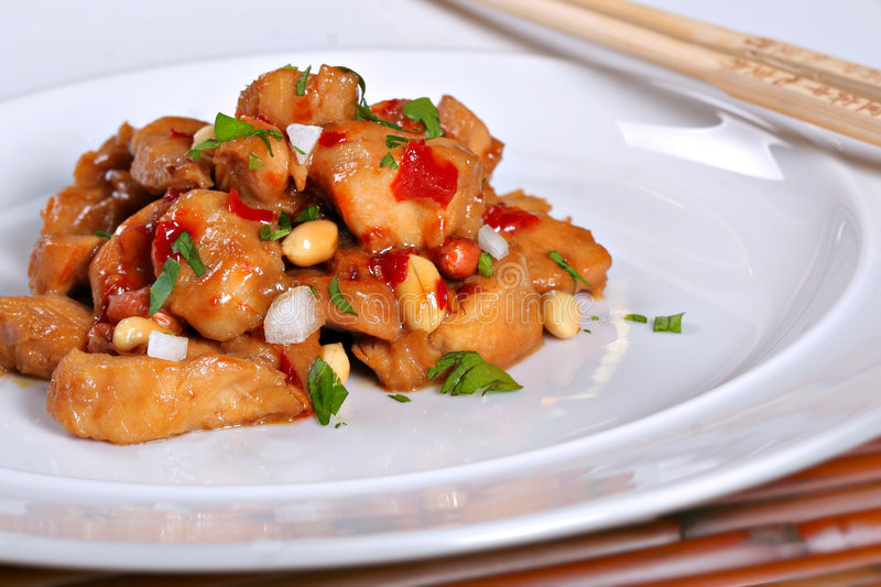 Chinese Food Kung Po Chicken royalty free stock photos