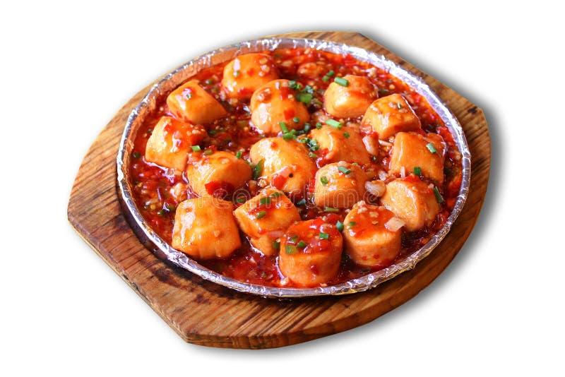 Chinese food-mapo tofu stock images