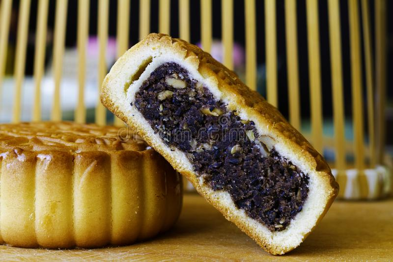 Chinese food: moon cake. For moon cake festival mid autumn festival stock photos