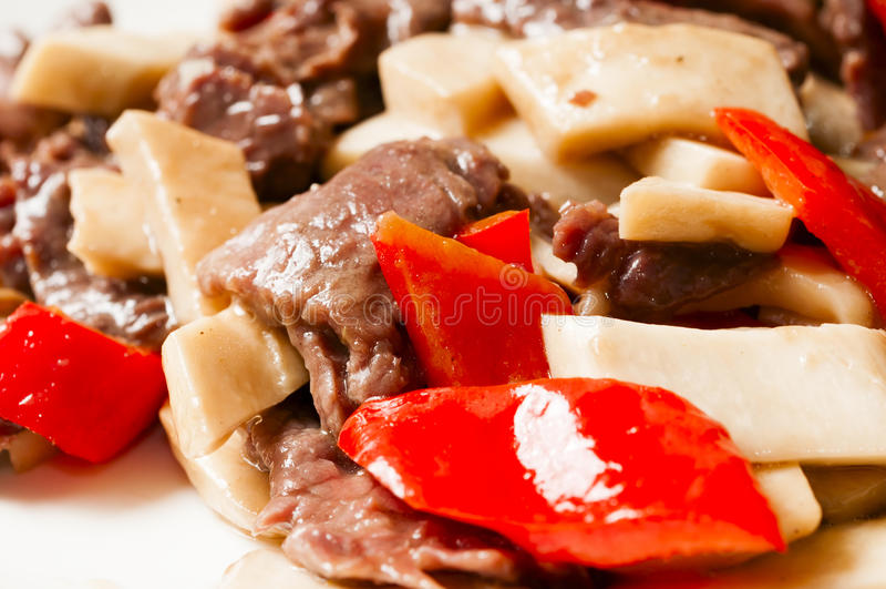 Chinese food--Mushroom and beef